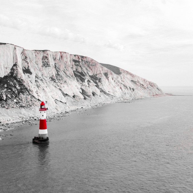 """""""The red and white lighthouse"""" stock image"""
