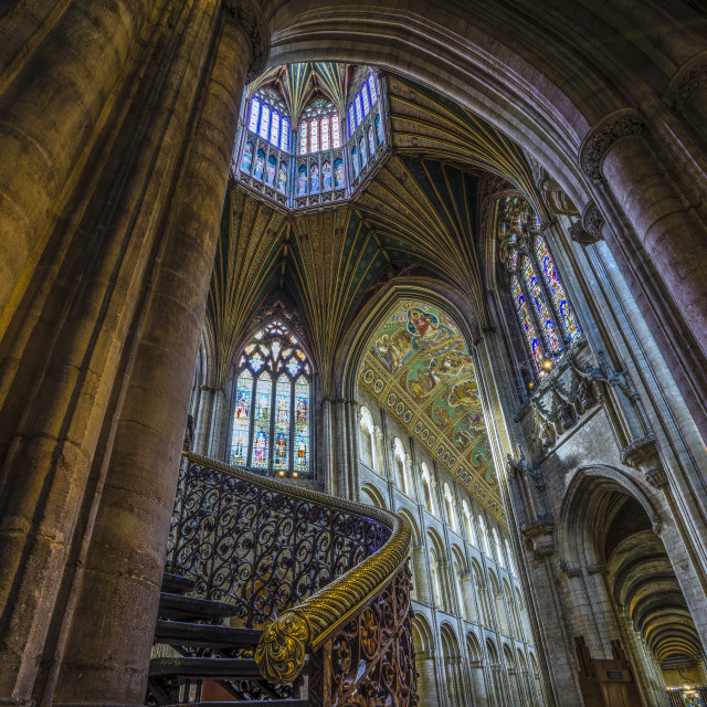 """""""The Octagon, Ely Cathedral"""" stock image"""