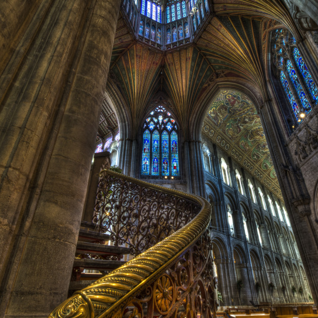 """""""Ely Cathedral interior New Year 2014"""" stock image"""