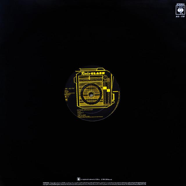 """The Clash: EP 12"" side B 'Radio Clash'"" stock image"