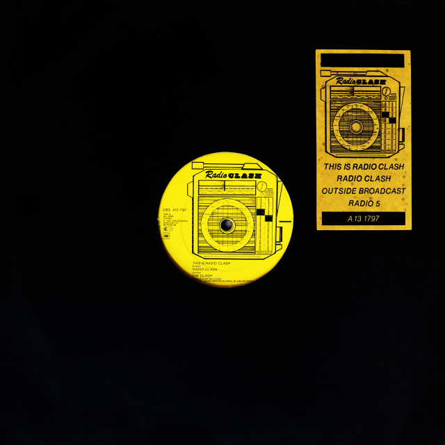"""The Clash: EP 12"" side A 'Radio Clash'"" stock image"