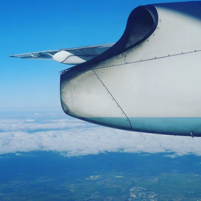 """Aeroplane Wing"" stock image"