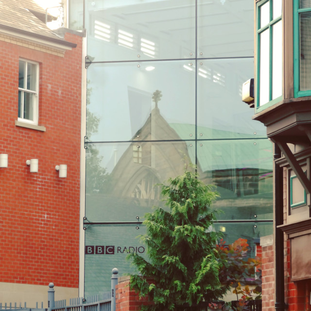 """BBC Leicester Window"" stock image"