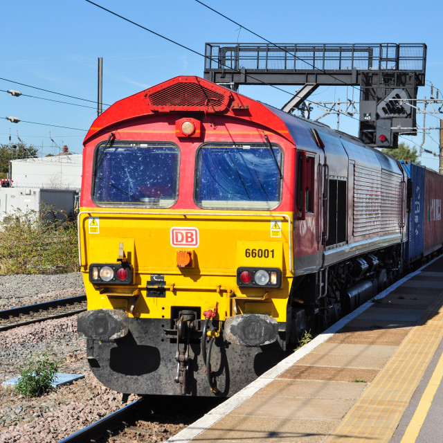 """DB Class 66 at Peterborough"" stock image"