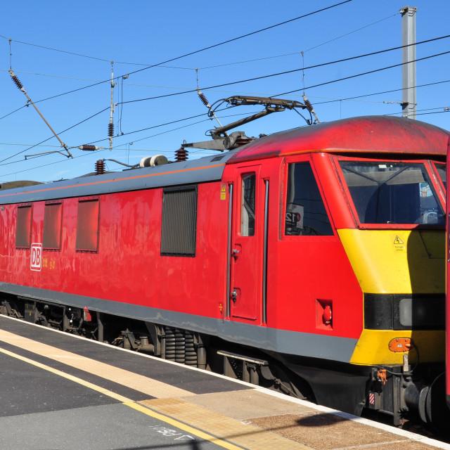 """DB Class 90 at Peterborough"" stock image"
