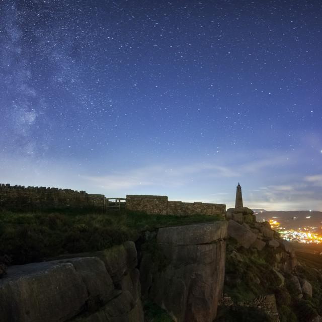 """Milky Way above Earl Crag"" stock image"