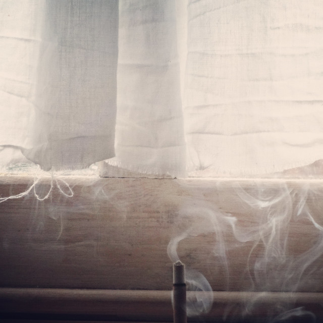 """Incense by Window"" stock image"