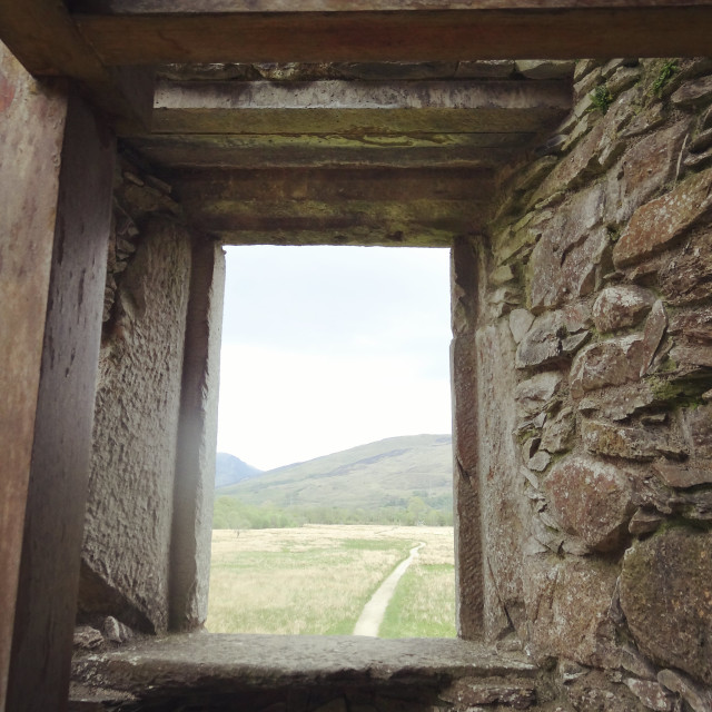 """Kilchurn Castle Window"" stock image"