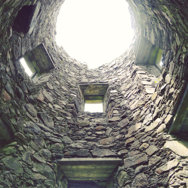"""Kilchurn Castle Turret"" stock image"