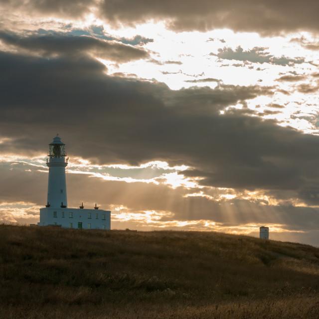 """Flamborough Head Lighthouse"" stock image"