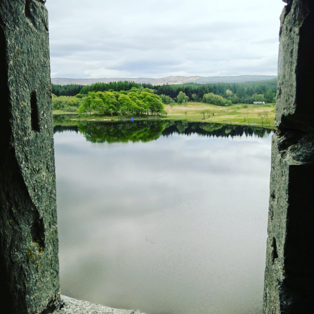 """Loch Awe from Kilchurn Castle"" stock image"