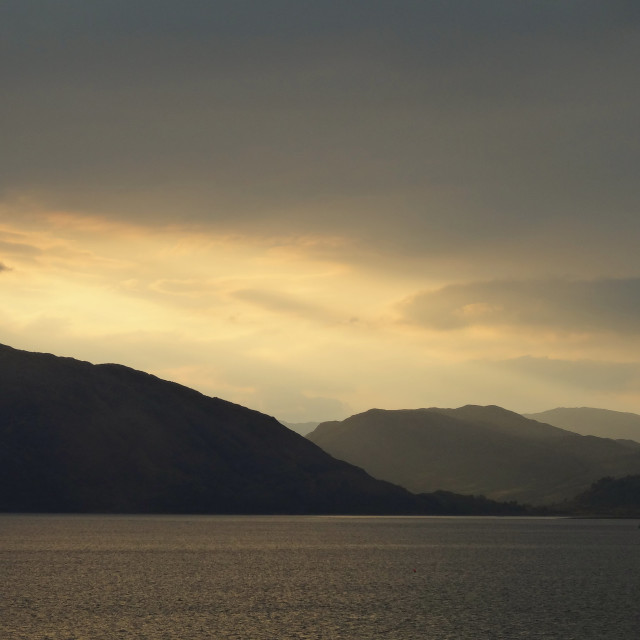 """Loch Linnhe at Sunset"" stock image"