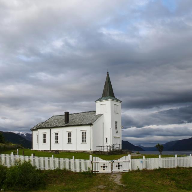 """Langfjord kirke"" stock image"