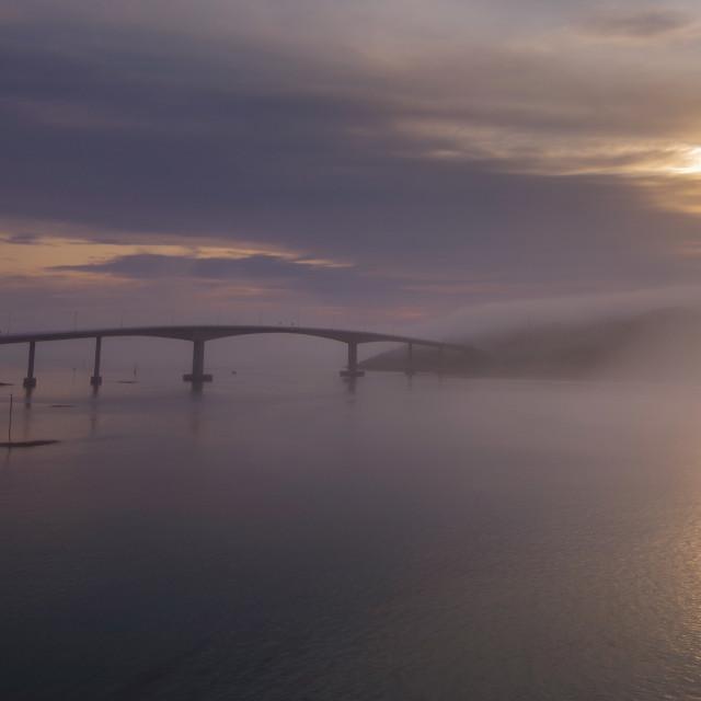 """""""Sommaroy bridge"""" stock image"""