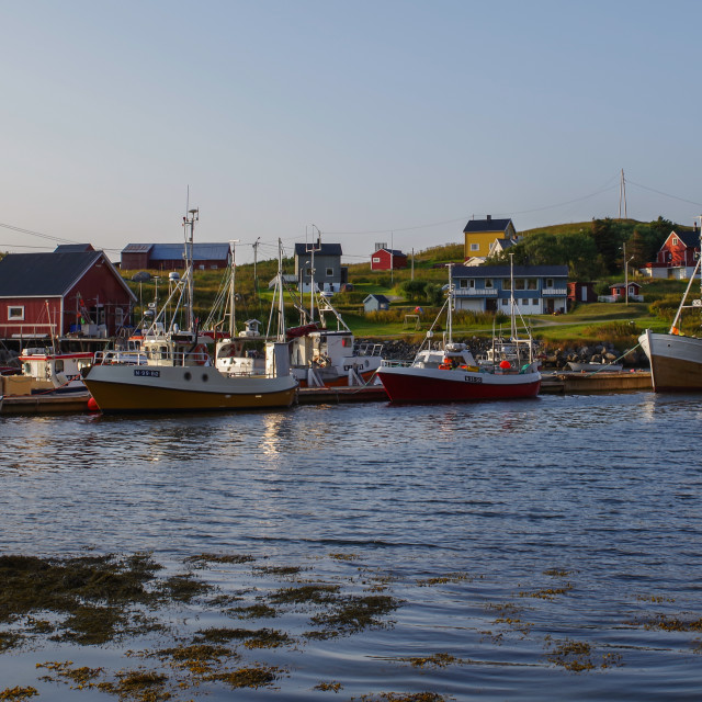"""Norway fishing boats"" stock image"