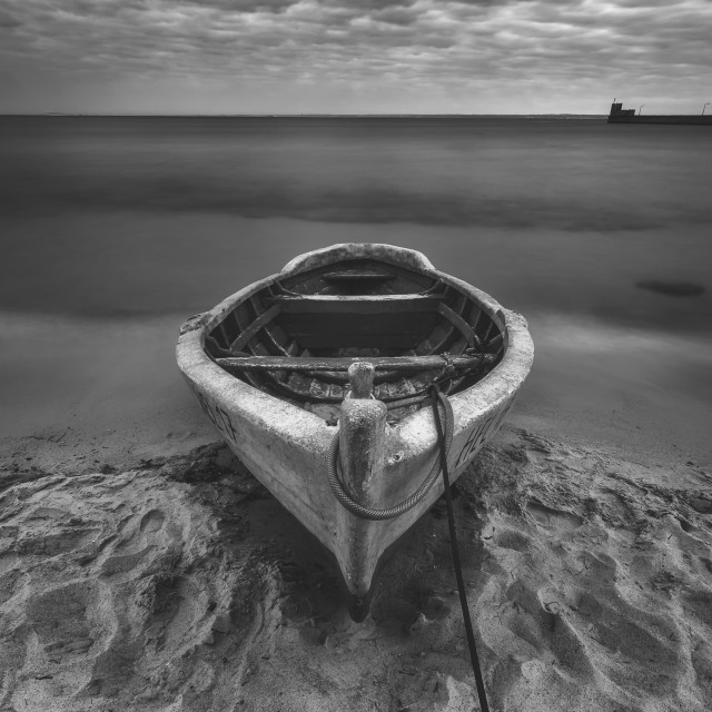 """Boat from Hel [BW]"" stock image"