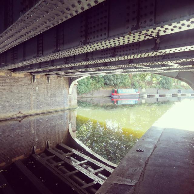 """Under West Bridge"" stock image"