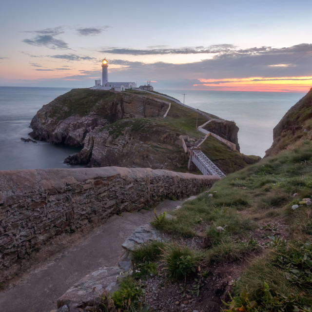 """Dusk in Holyhead"" stock image"