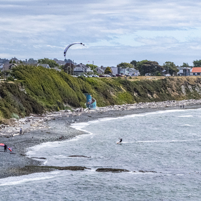 """""""Surfing in Victoria, BC, Canada"""" stock image"""