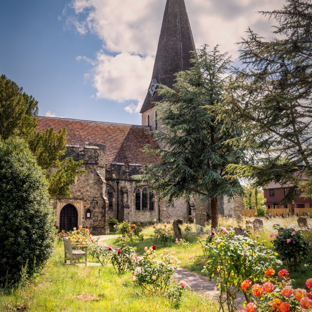 """Woodchurch Church"" stock image"