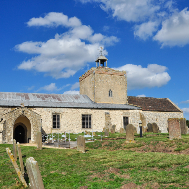 """St Clement's Church, Burnham Overy"" stock image"
