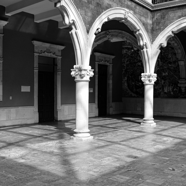 """""""Courtyard in a historic building in Mexico"""" stock image"""