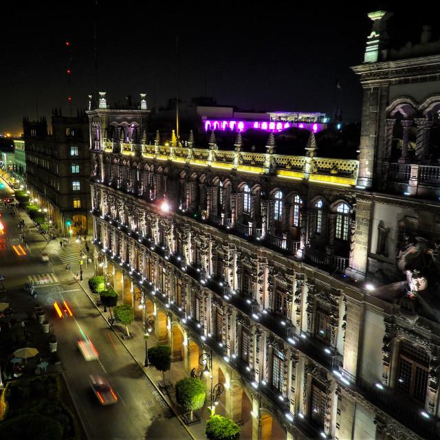 """Buildings around Zocalo Square in Mexico City"" stock image"
