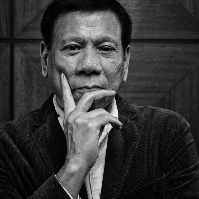 """President Duterte of the Philippines"" stock image"