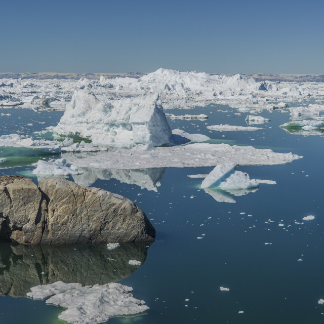 """""""By the sea, Ilulissat"""" stock image"""