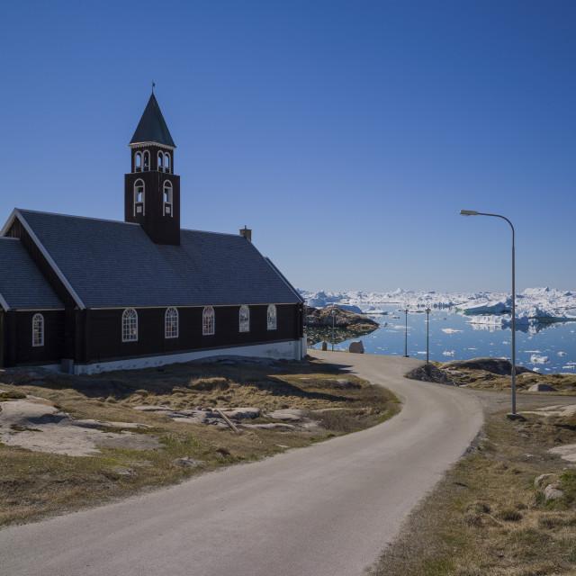 """The church, Ilulissat"" stock image"