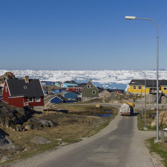 """""""The street of Ilulissat"""" stock image"""
