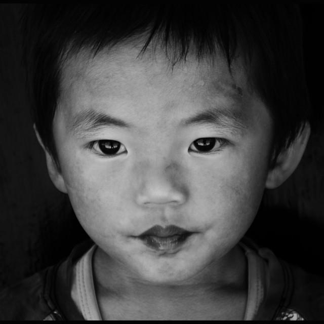 """Street Kid Portrait"" stock image"