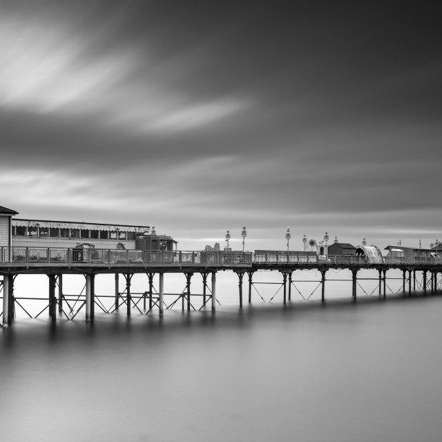 """""""Long exposure at Teignmouth Pier"""" stock image"""