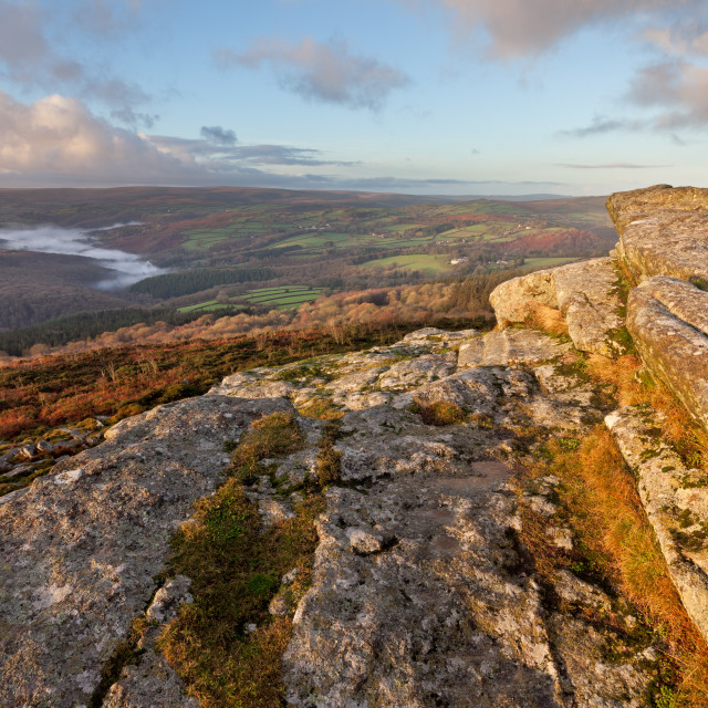 """""""View from Buckland Beacon"""" stock image"""