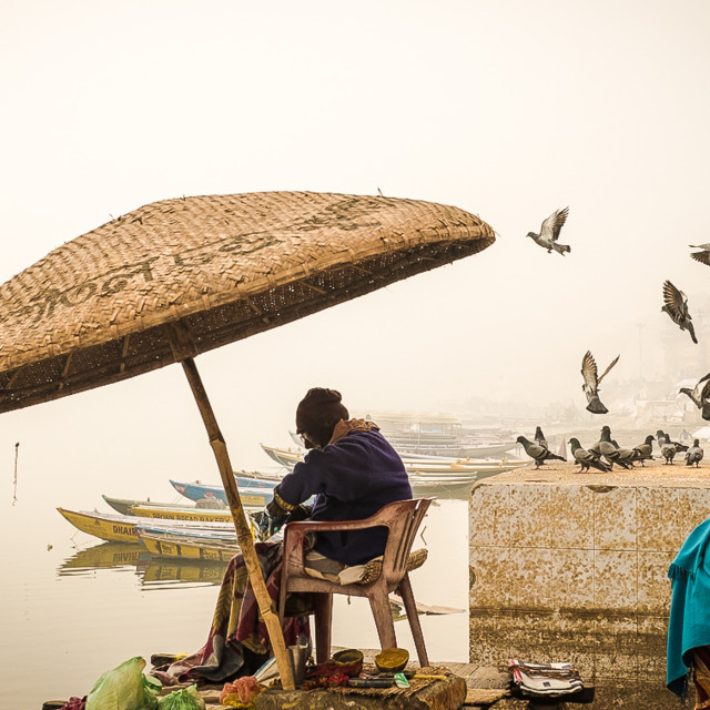 """Varanasi Mornings"" stock image"