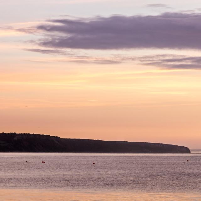 """""""Ladram Bay sunrise"""" stock image"""