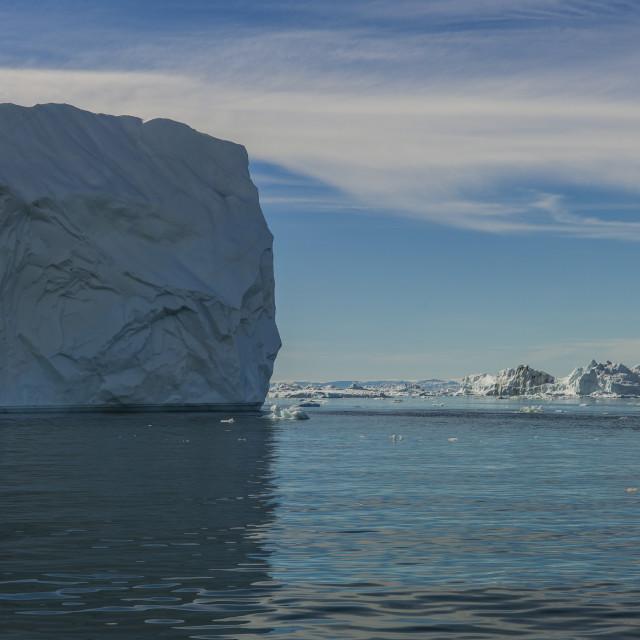 """""""The floating rock, Ilulissat"""" stock image"""