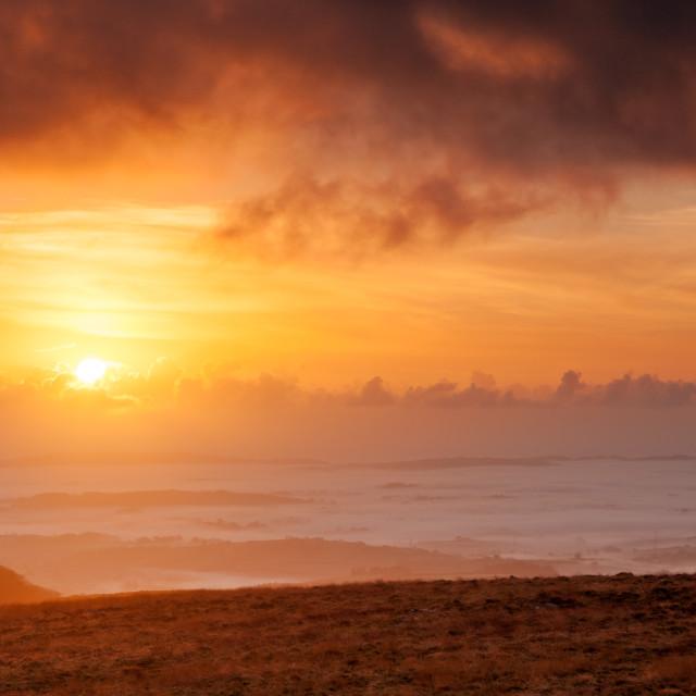 """Rippon Tor sunrise"" stock image"