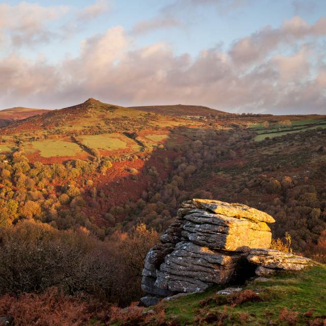 """""""Dart Valley from North Tor"""" stock image"""