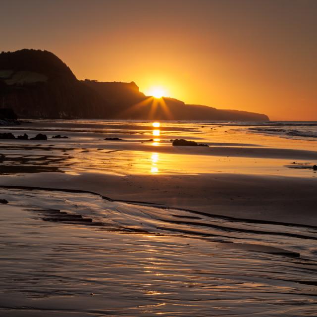 """""""Sidmouth Sunrise"""" stock image"""