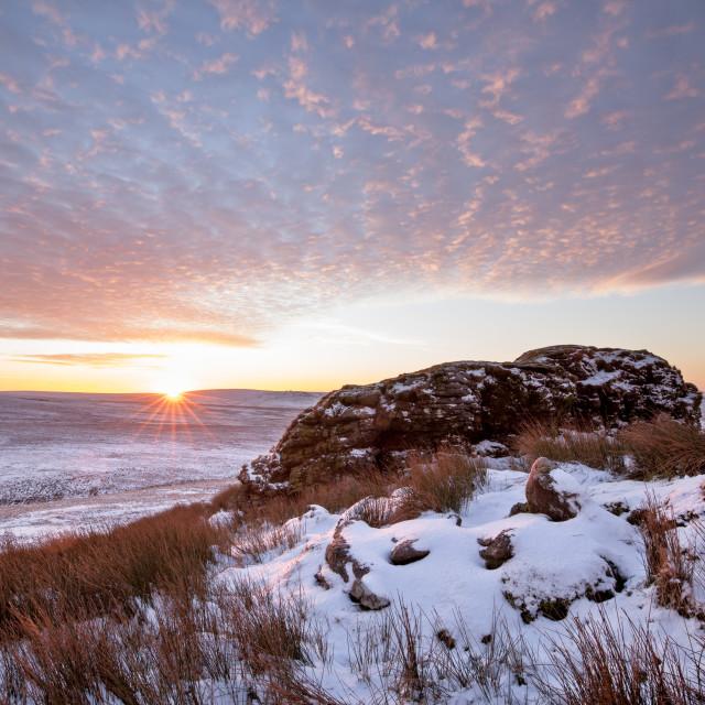 """Sunrise at Dunna Goat"" stock image"