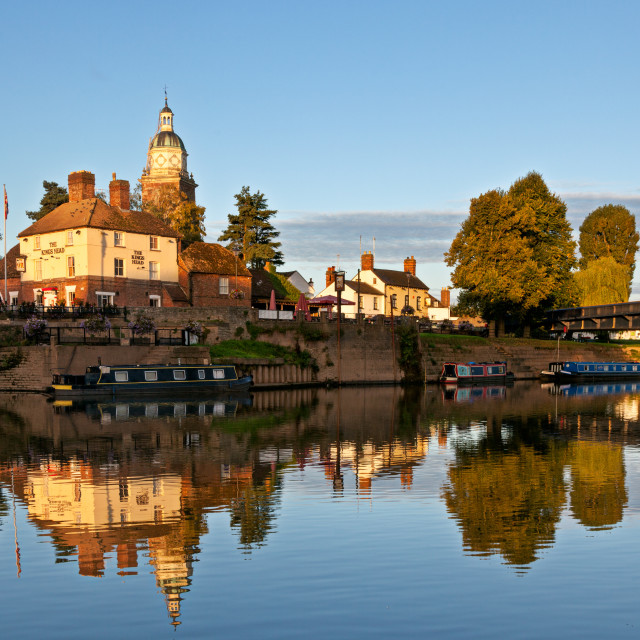 """""""The River side, Upton upon Severn"""" stock image"""