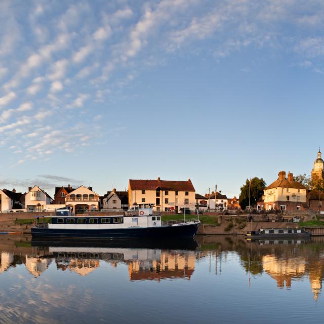 """Upton Riverside Panorama"" stock image"