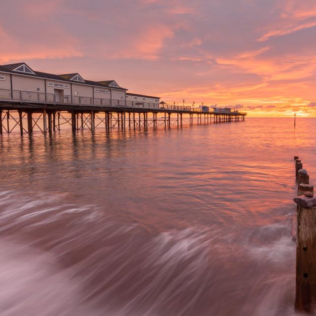 """""""Teignmouth Pier Sunrise"""" stock image"""