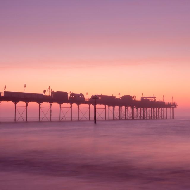 """Teignmouth Pier at Dawn"" stock image"