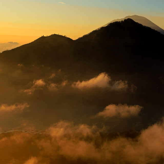 """View from mount Batur - Bali, Indonesia"" stock image"