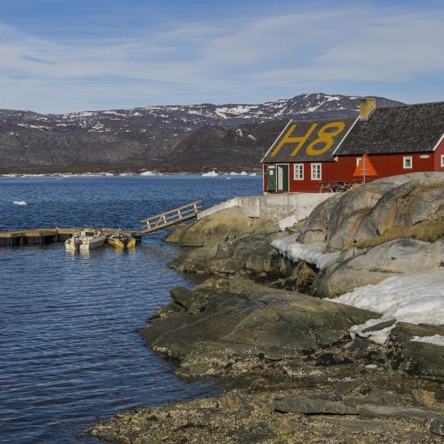 """H8 Restaurant, Ilulissat"" stock image"