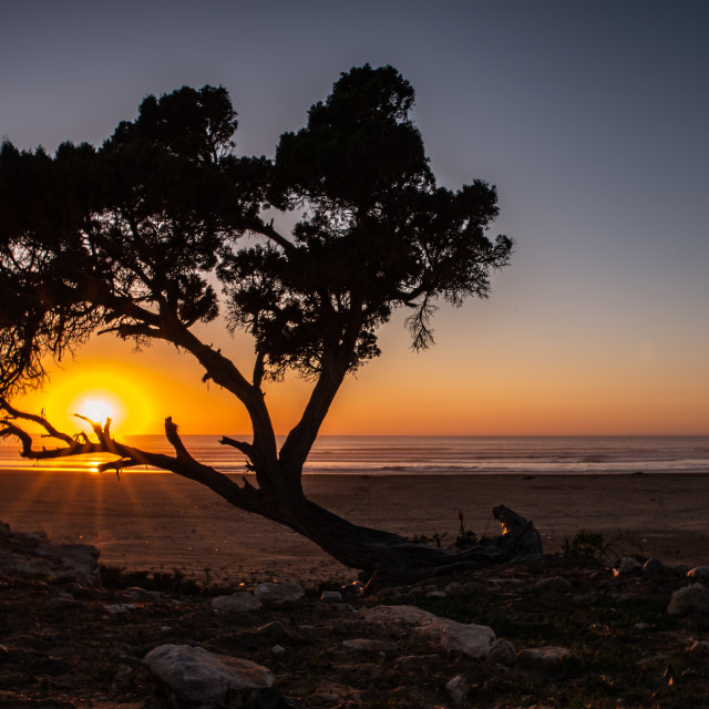 """""""Moroccan sunset"""" stock image"""