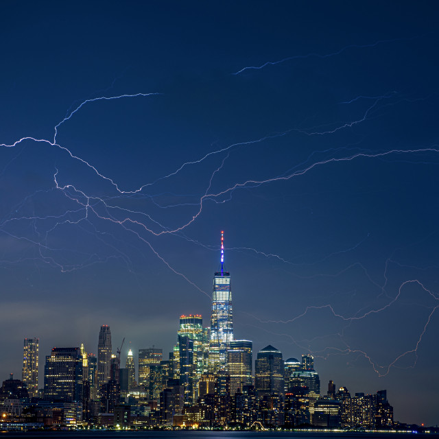 """Electrical Evening NYC"" stock image"