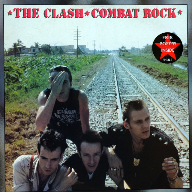 """""""The Clash: LP front cover 'Combat Rock'"""" stock image"""